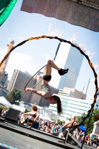 Kaleidoscope Aerialist on the Rig of Fire